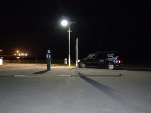 Solar LED car park light Goodwick, Pembrokshire,